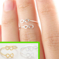 Gold+Silver Infinite Cuff Rings (Adjustable)