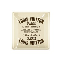 Vintage Louis Vuitton Label Decoupage Tray