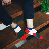 2016 New Mens Comfortable Patchwork Spring Casual Sports Warm Stockings (5 PCS) Socks-41
