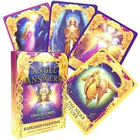 44 Sheets Angel Answers Oracle Cards English Version Tarot Card Divination Board Game Cards