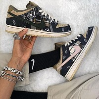 Travis Scott x Nike SB Dunk Low casual skateboard shoes