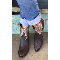 Old Gringo Polo Zipper Signature Ankle Boots~ Chocolate/Silver  Style BL3204-2