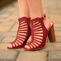 Walk With Me Booties - Wine
