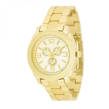 Men's Chronograph Metal Watch - Gold