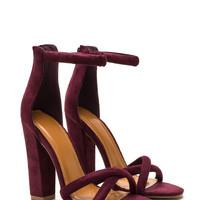 X Game Faux Suede Chunky Heels