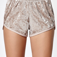 LA Hearts Crushed Velvet Jogger Shorts at PacSun.com