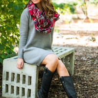 This Is It Sweater Dress, Gray