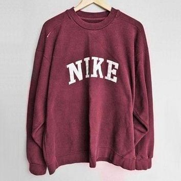 NIKE casual trendy sports long-sleeved shirt sweater pullovers F