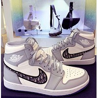 Dior x NIKE Air Jordan 1 Low Hot Sale Men's and Women's Basketball Shoes Sneakers