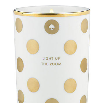 Kate Spade Light Up The Room Scented Candle Gold ONE