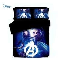 Cool cool Avengers bedding set 3/4 pcs single full queen king size quilt cover 3d bedspreads twiin girl boy room decor flat sheet kidAT_93_12