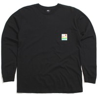 Sierra Pigment Dyed Longsleeve Pocket T-Shirt Black