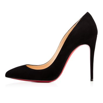 Pigalle Follies 100mm Black Suede