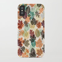 Autumn Leaves 2 iPhone Case by Fimbis
