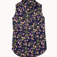 Dainty Floral Shirt | FOREVER 21 - 2048993374