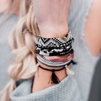 Lots Of Layers Bracelet - Black