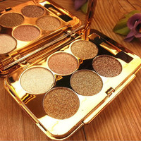 Hot Women 6 colors Diamond Bright Colorful Makeup Eyeshadow Super Make up set flash Glitter Nake eye shadow Palette with Brush