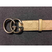 GUCCI Men's Classic Beige Guccissima Leather Belt w/GG Buckle ITALY 38/95