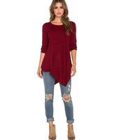 Autumn Scales Long Sleeve Plus Size T-shirts [6338696068]