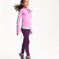 Relaxed-Fit 1/4-Zip Go-Warm Hoodie for Girls