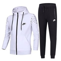 Nike two sets of tide card trendy cardigan jacket coat trousers suit F