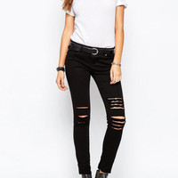 Black Cut-out Pants