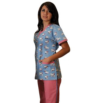 Women's Counting Sheep 7-Pocket Medical Scrubs