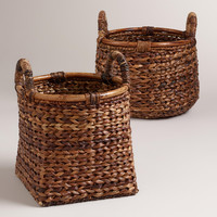 Braided Rattan Brittany Baskets - World Market