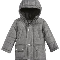 Rothschild Boys' Hooded Puffer Melange Coat - FINAL SALE