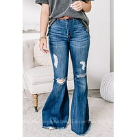That's So 70's Flare Jeans | Denim Blues