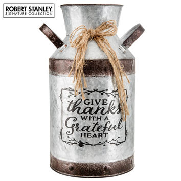 Give Thanks Galvanized Metal Milk Can | Hobby Lobby