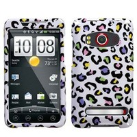 MyBat HTC EVO 4G Phone Protector Cover - Colorful Leopard