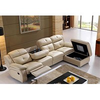 Electric Luxury Sectional Storage Recliner Sofa