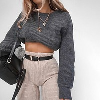 Grayson Crop Sweater