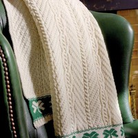 Shamrock Cable Throw Natural | Blarney