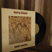 Album LP, Harry Chapin - Short Stories, Vintage Vinyl Record, 1973, WOLD Song For Myself Song Man Changes
