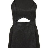 Cut-Out Playsuit - Black