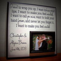 Handmade Wedding Song Picture Frame Newlyweds by YourPictureStory