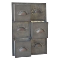 Rustic Galvanized 3 Slot Wall Storage Unit