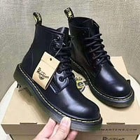 Dr.Marten Fashion Women Waterproof Boots Martin Leather Boots Shoes