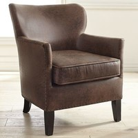 Lyndon Coffee Brown Armchair