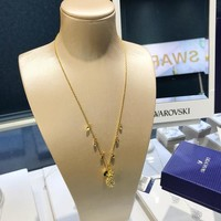 HCXX 19July 407 Swarovski golden cute pineapple necklace Tropical pineapple necklace 5368020
