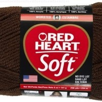 Red Heart  Soft Yarn, Chocolate