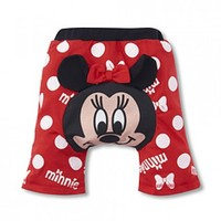 Cute Red Minnie Mouse Baby Shorts with White Dots