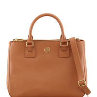 Robinson Double-Zip Tote Bag, Luggage - Tory Burch