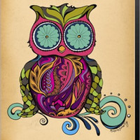 Owl Animal Canvas Wall Art Print by Green Girl Canvas