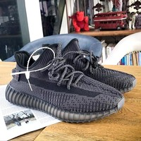 ADIDAS YEEZY 350 V2 Tide brand starry black wild fashion men and women sports shoes