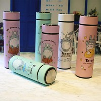 High Quality Totoro Lovely Thermos Pretty Coffee Thermos Mug Stainless Steel Vacuum Cup  Sports Water Bottle