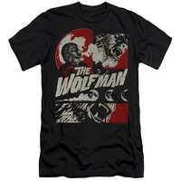 The Wolf Man Slim Fit T-Shirt Wolfbane Blooms Black Tee