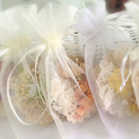 Bridal Favors, Bridesmaids Fiber Art Brooch, Victorian, Textile, Vintage Inspired, French Knots, Lace, Pearls,  Weddings MADE TO ORDER
